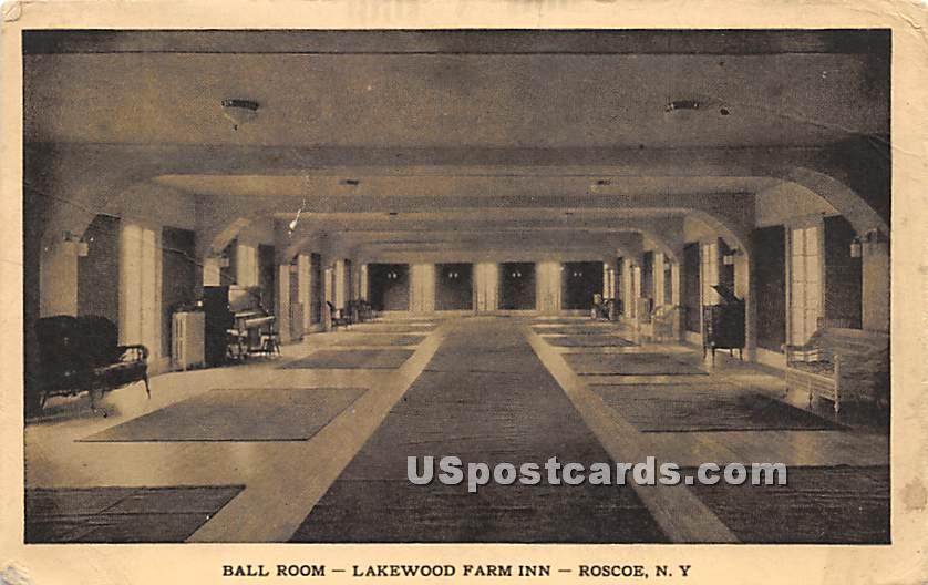 Ball Room - Roscoe, New York NY Postcard