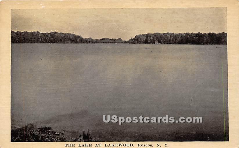 The Lake at Lakewood - Roscoe, New York NY Postcard