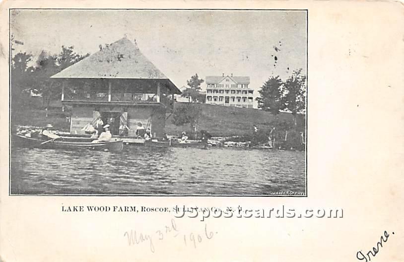 Lake Wood Farm - Roscoe, New York NY Postcard