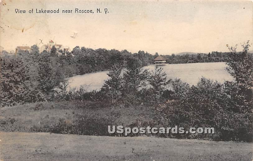 View of Lakewood - Roscoe, New York NY Postcard