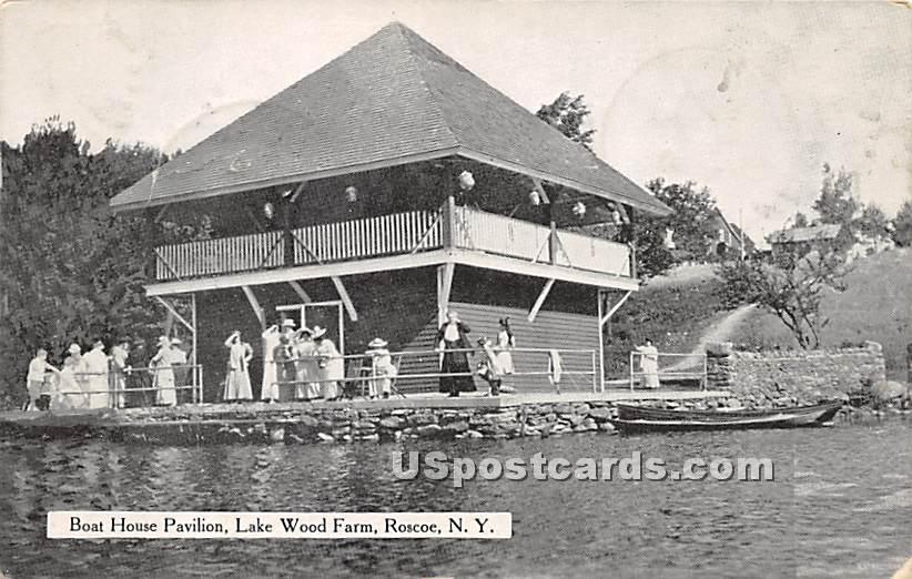 Boat House Pavilion - Roscoe, New York NY Postcard