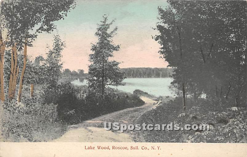 Lake Wood - Roscoe, New York NY Postcard