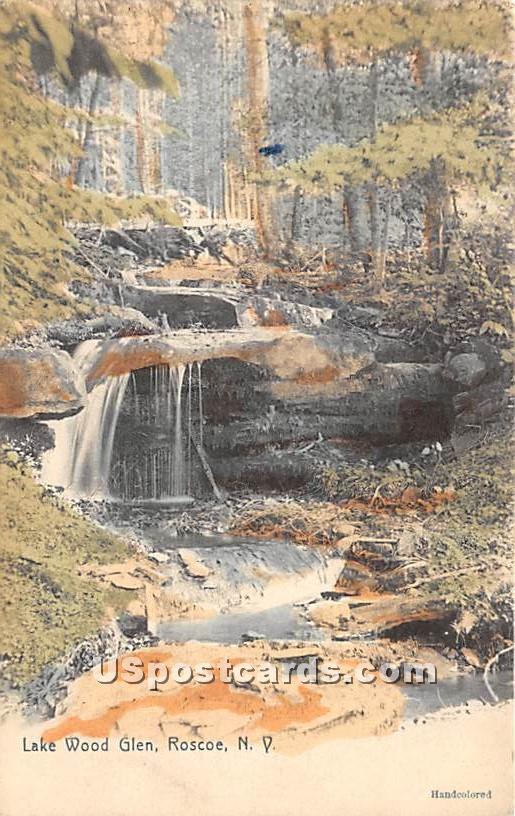 Lake Wood Glen - Roscoe, New York NY Postcard