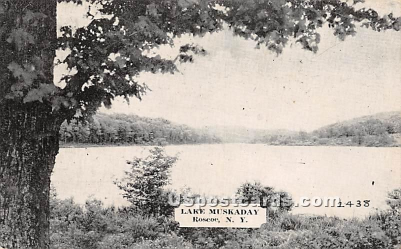 Lake Muskaday - Roscoe, New York NY Postcard