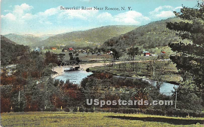 Beaverkill River - Roscoe, New York NY Postcard