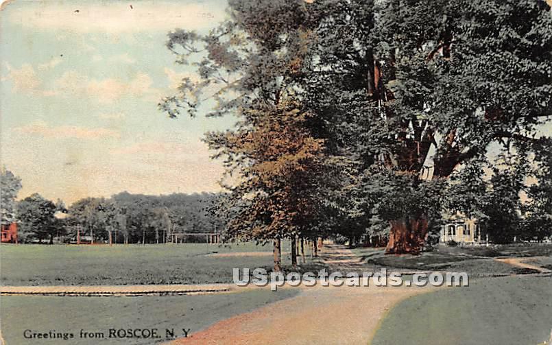 Greetings from - Roscoe, New York NY Postcard