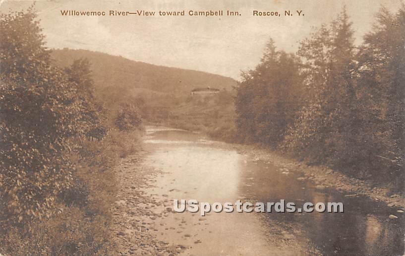 Willowemoc River - Roscoe, New York NY Postcard