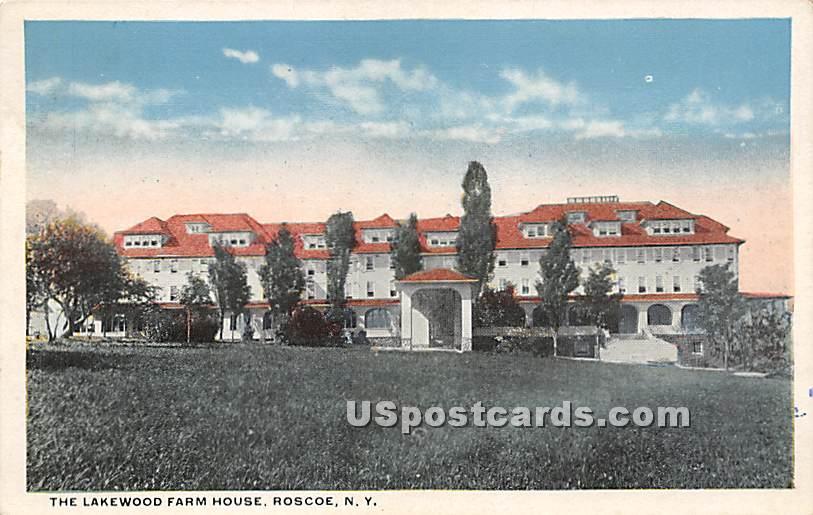 Lakewood Farm House - Roscoe, New York NY Postcard