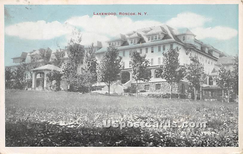 Lakewood - Roscoe, New York NY Postcard