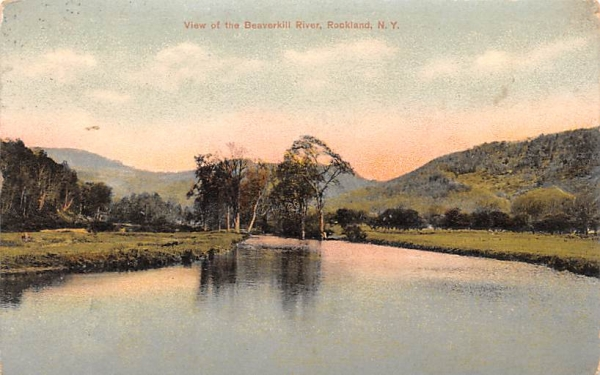 Beaverkill River Rockland, New York Postcard