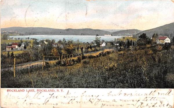 Rockland Lake New York Postcard