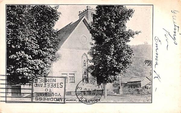 ME Church Rockland, New York Postcard