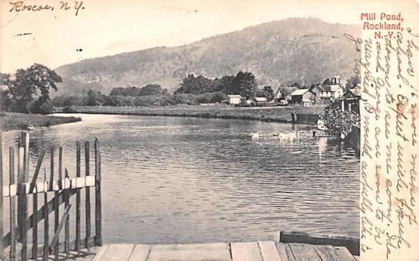 Mill Pond Rockland, New York Postcard