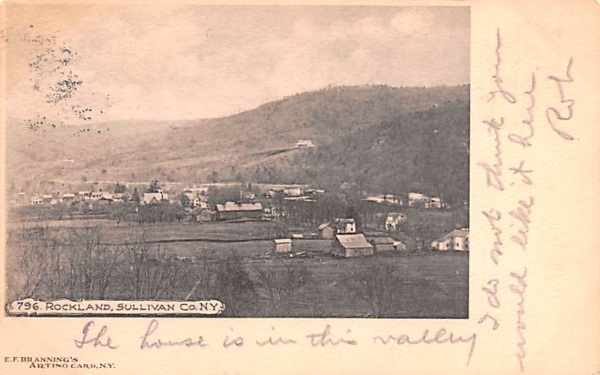 Bird's Eye View Rockland, New York Postcard
