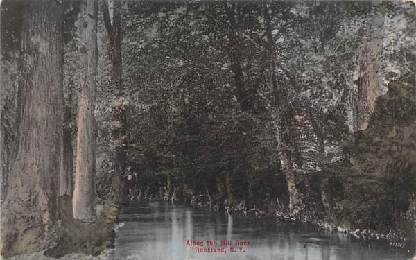 Along the Mill Race Rockland, New York Postcard