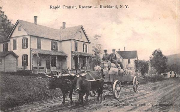 Rapid Transit Rockland, New York Postcard