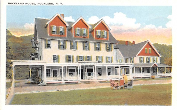 Rockland House New York Postcard