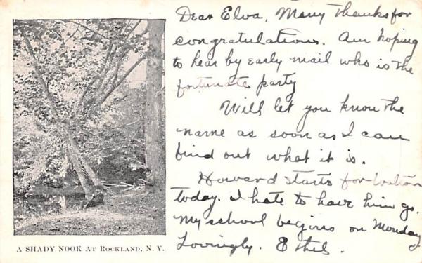 Shady Nook Rockland, New York Postcard