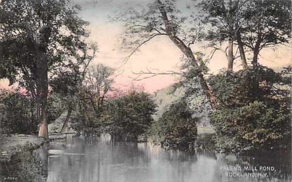 Palen's Mill Pond Rockland, New York Postcard