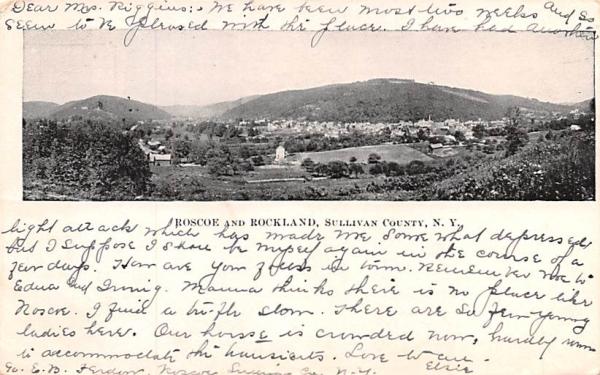 Roscoe Rockland, New York Postcard