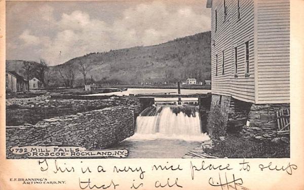Mill Falls Rockland, New York Postcard