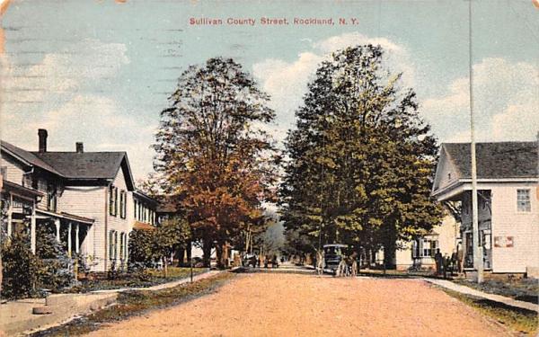 Sullivan County Street Rockland, New York Postcard
