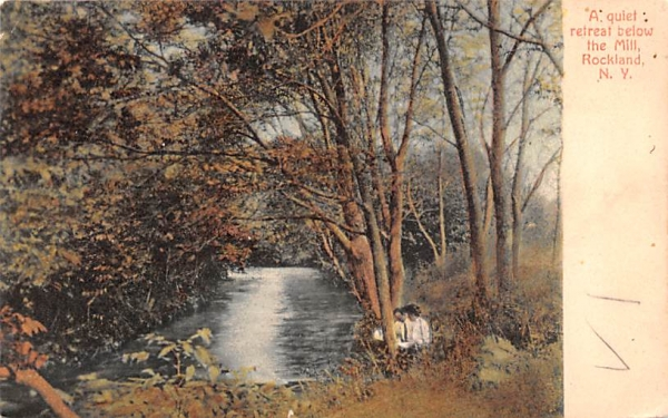 Quiet Retreat below the Mill Rockland, New York Postcard