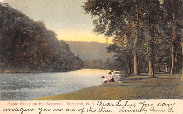 Maple Grove Rockland, New York Postcard