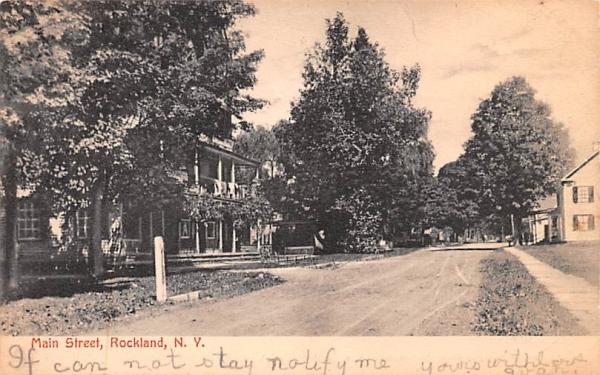 Main Street Rockland, New York Postcard