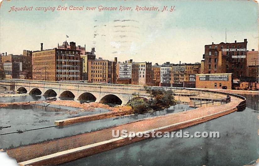 Aqueduct, Erie Canal - Rochester, New York NY Postcard