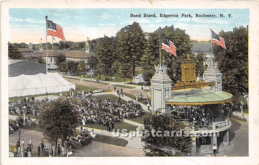 Band Stand, Edgerton Park - Rochester, New York NY Postcard