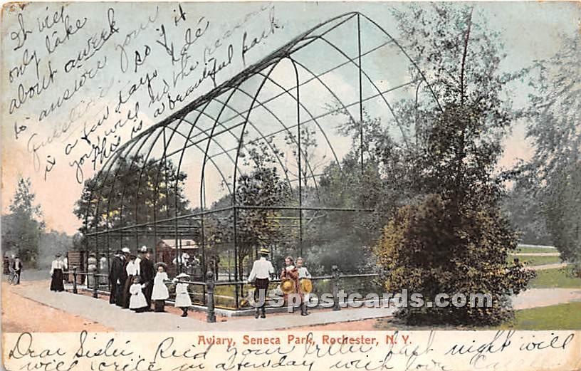 Aviary, Seneca Park - Rochester, New York NY Postcard