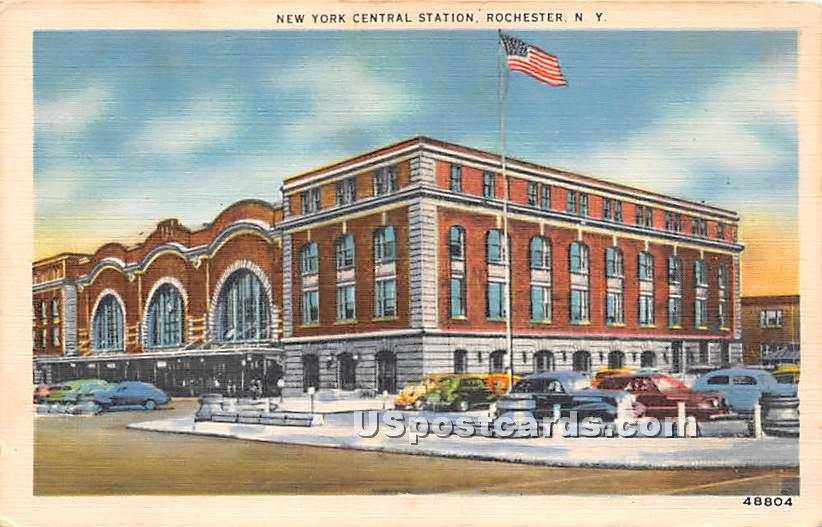 New York Central Station - Rochester Postcard
