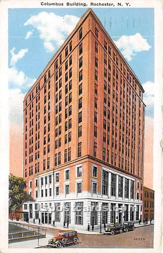Columbus Building - Rochester, New York NY Postcard