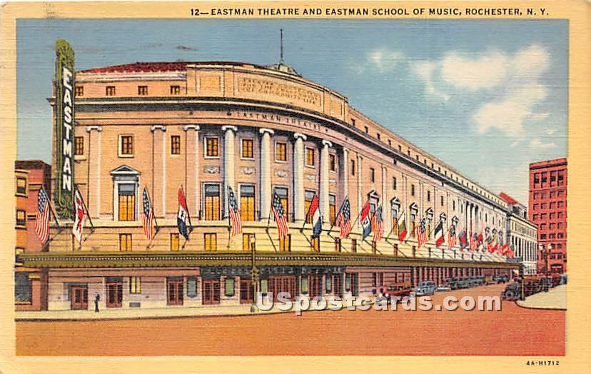 Eastman Theatre, Eastman School - Rochester, New York NY Postcard