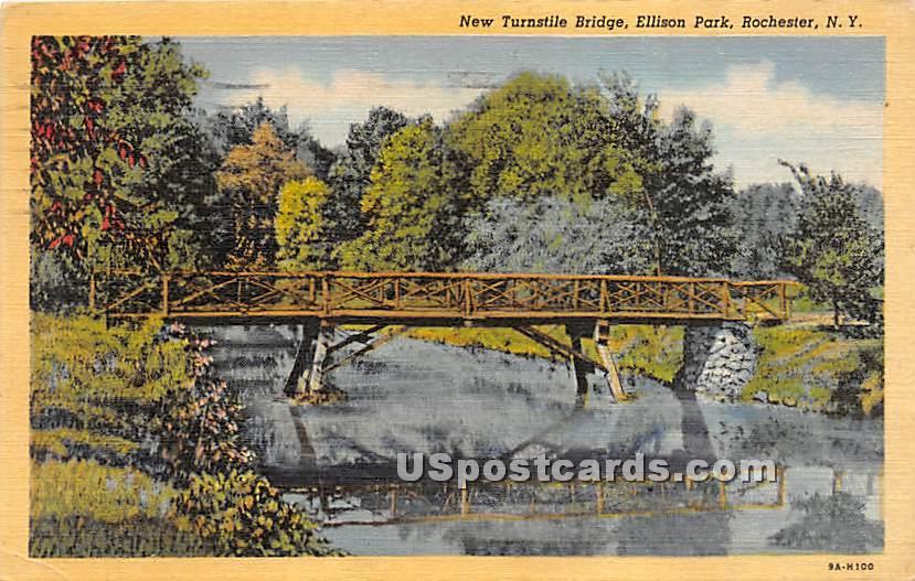 New Turnstile Bridge, Ellison Park - Rochester, New York NY Postcard