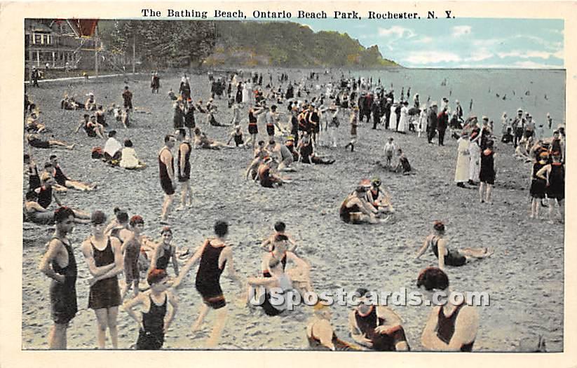 Bathing Beach, Ontario Beach Park - Rochester, New York NY Postcard