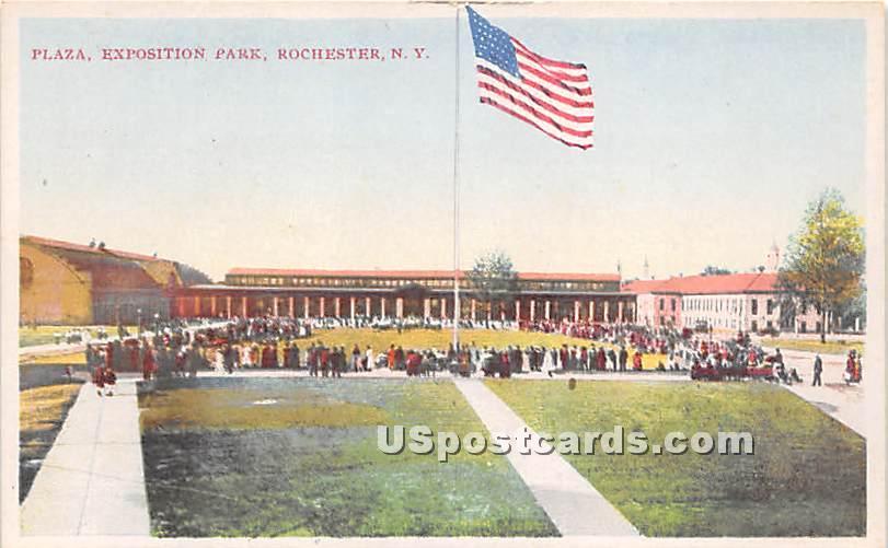 Plaza, Expostion Park - Rochester, New York NY Postcard