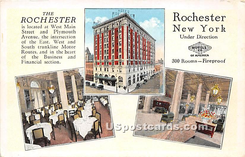 West Main Street, The Rochester - New York NY Postcard