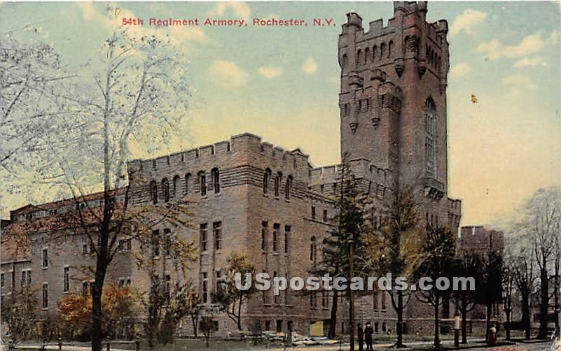 54th Regiment Armory - Rochester, New York NY Postcard