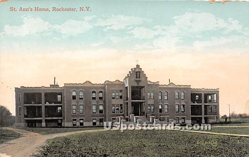 St Ann's Home - Rochester, New York NY Postcard