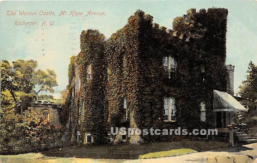 Warner Castle, Mt Hope Avenue - Rochester, New York NY Postcard