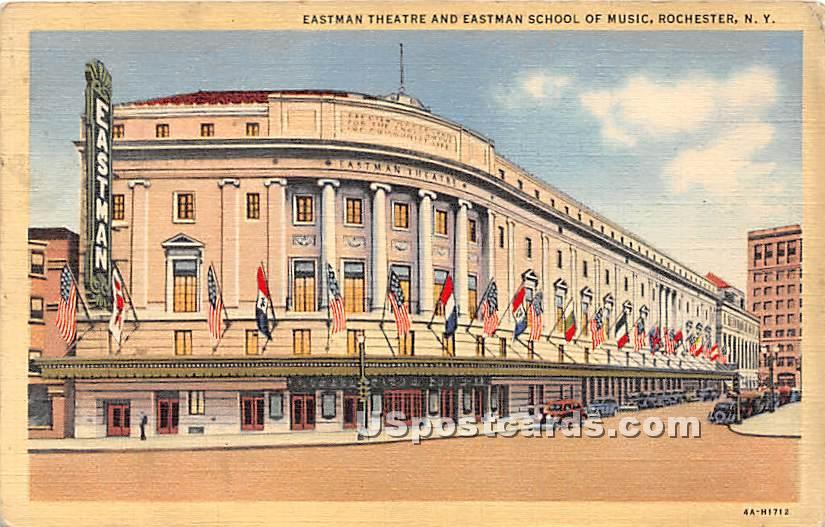 Eastman Theatre & Eastman School of Music - Rochester, New York NY Postcard