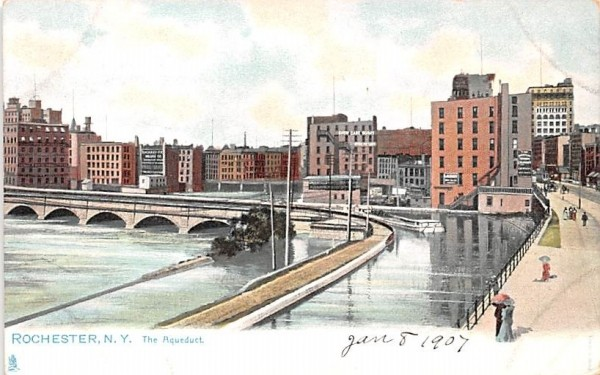 The Aqueduct Rochester, New York Postcard