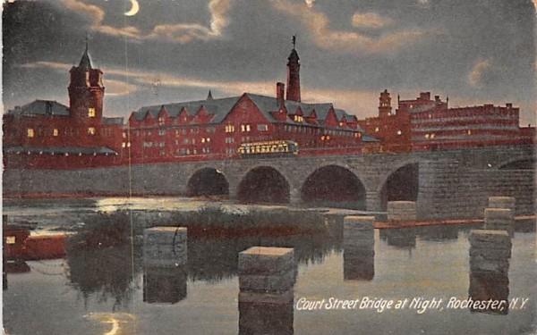 Court Street Bridge Rochester, New York Postcard