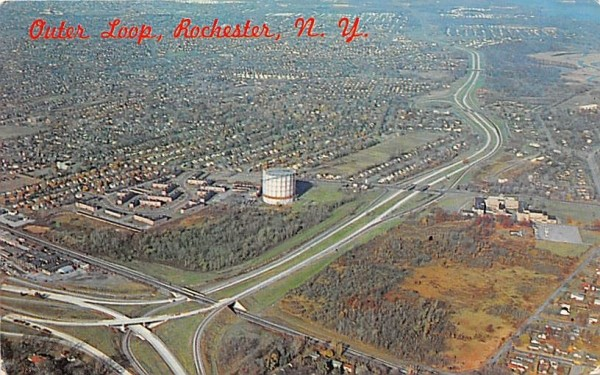 Outer Loop Rochester, New York Postcard