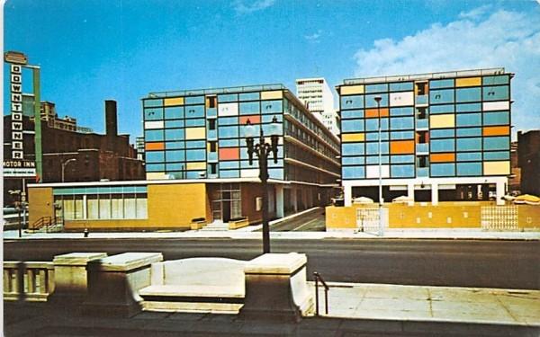 Downtowner Motor Inn Rochester, New York Postcard