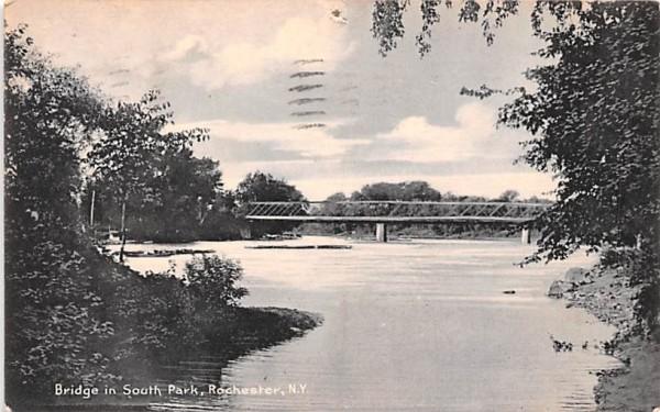 Bridge in South Park Rochester, New York Postcard