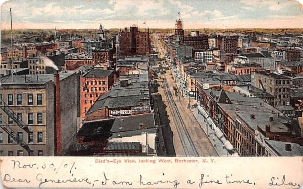 Bird's Eye View Rochester, New York Postcard