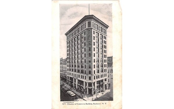 Chamber of Commerce Building Rochester, New York Postcard